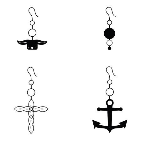 expensive: Earrings icon set