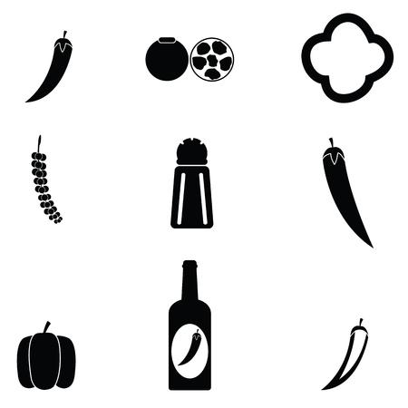 chilli icon set