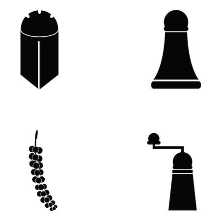 black pepper icon set Illustration