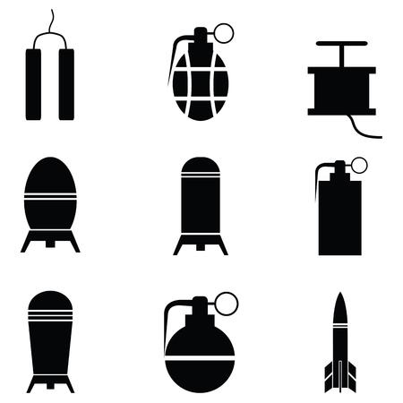 bomb icon set Vector illustration.