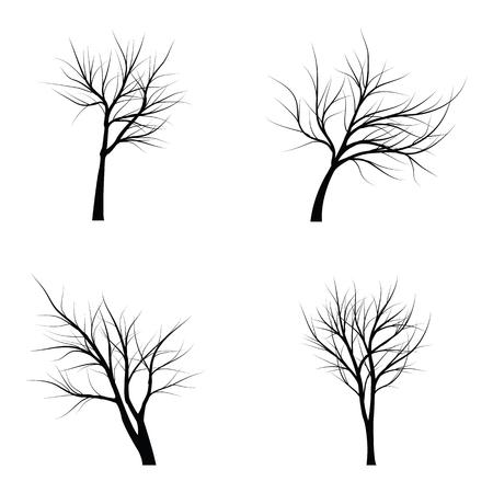 Bäume mit toten Zweigen Vektor-Illustration. Standard-Bild - 85564644