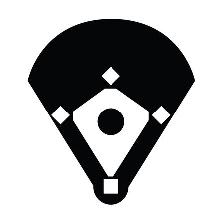 Baseball Stadium Vector illustration.