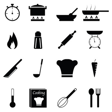 Cooking icon set Vektorové ilustrace