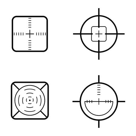 crosshair icon set vector illustration. Illustration