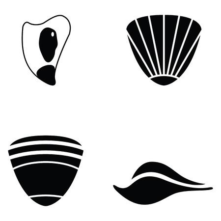 shell icon set vector illustration.