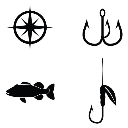 fishing icon set Illustration