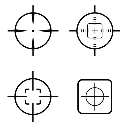 crosshair icon set Illustration