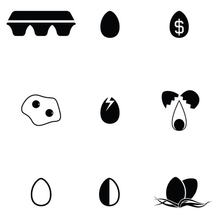 Egg icon set