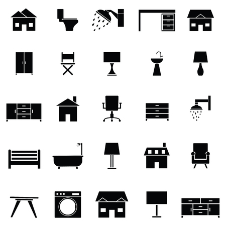 Home icon set Illustration