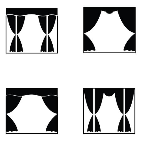 curtain icon set