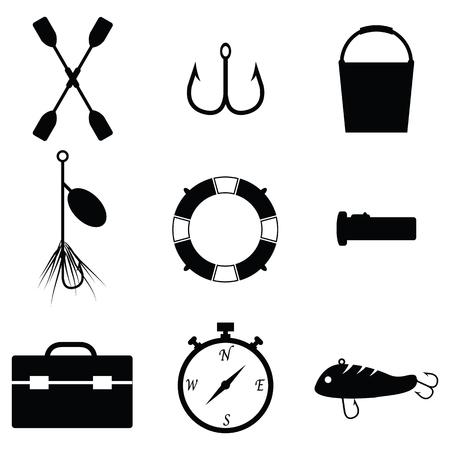 fishing icon set Illustration