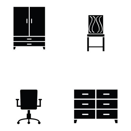 furniture icon set Illustration