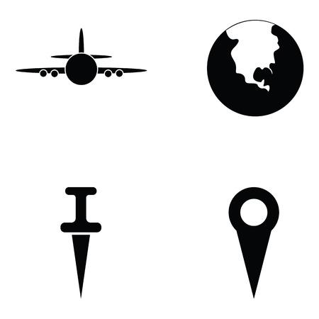 map icon set Illustration