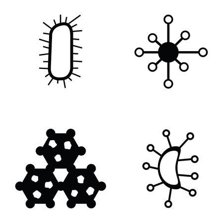 virus icon set Illustration