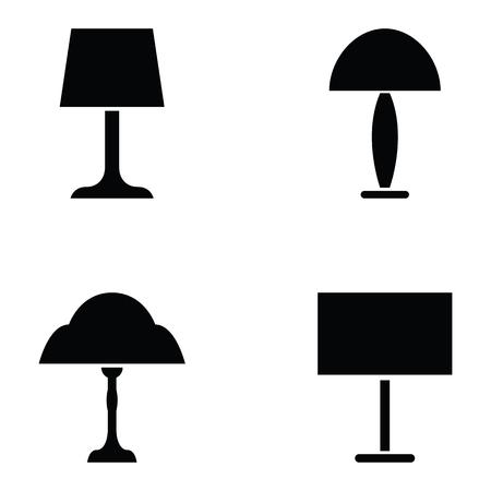 lamp icon set Illustration