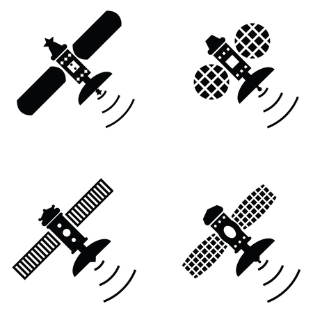 Satellite icon set
