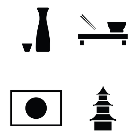 japanese icon set Çizim