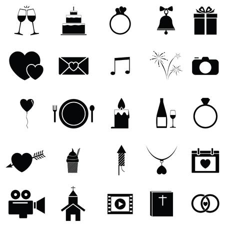 Bruiloft pictogramserie.