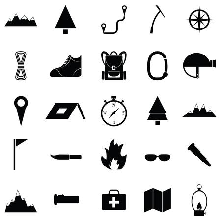Trecking icon set.