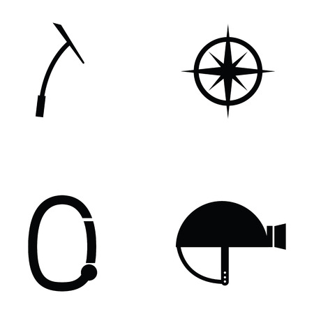 Trecking icon set.