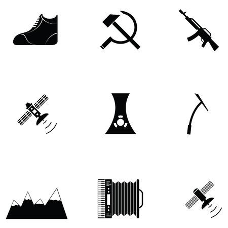 Icône russe ensemble Banque d'images - 88347536