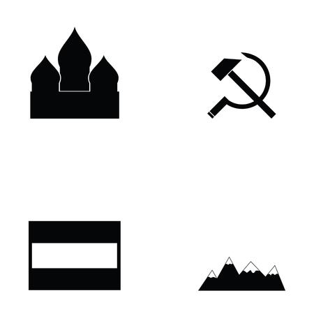 russian icon set Çizim