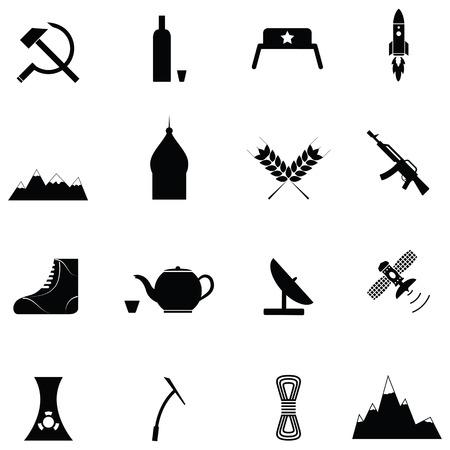 Icône russe ensemble Banque d'images - 88347762
