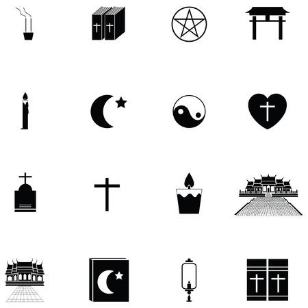 religions icon set Çizim