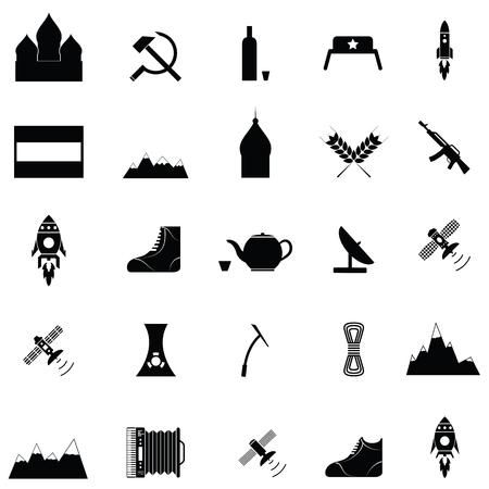 Set di icone russo Archivio Fotografico - 88348091