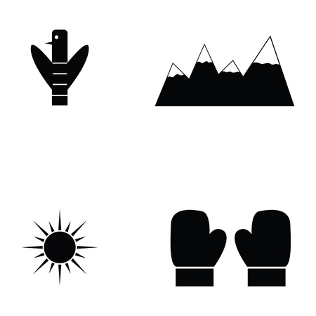 canada icon set Illustration