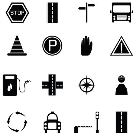 Conjunto de ícones de tráfego Ilustração vetorial Foto de archivo - 90022868