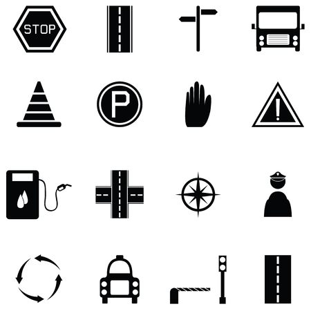 traffic icon set Vector Illustration