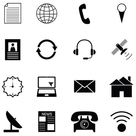 Contactez icon set Banque d'images - 90606609