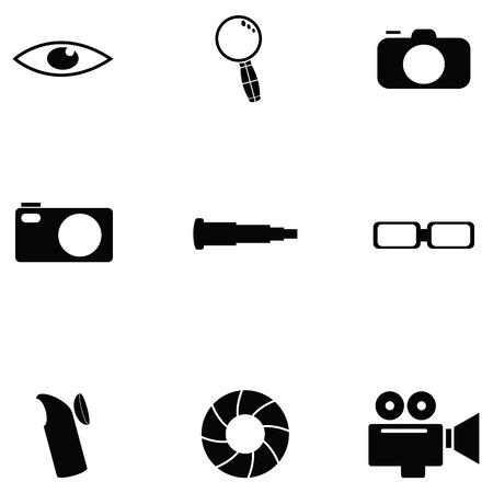 Optical icon set Illustration