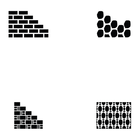 wall icon set Vector illustration.