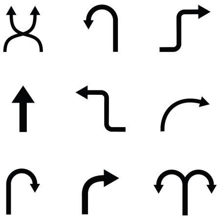 Directions icon set on white backgroun vector illustration.