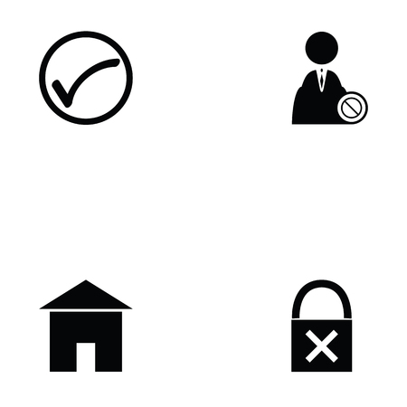 Login icon set on white background vector illustration.