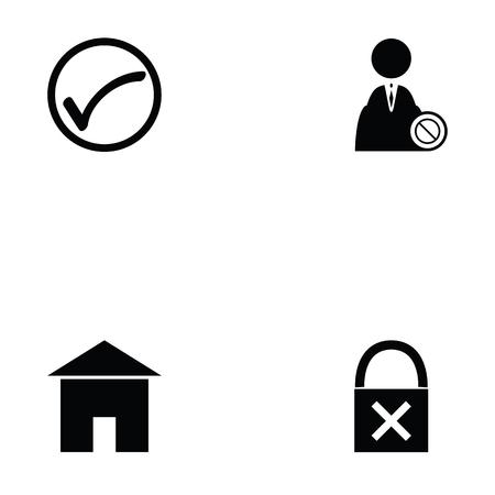 Login icon set on white background vector illustration.