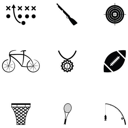 Sport icon set on white background vector illustration.