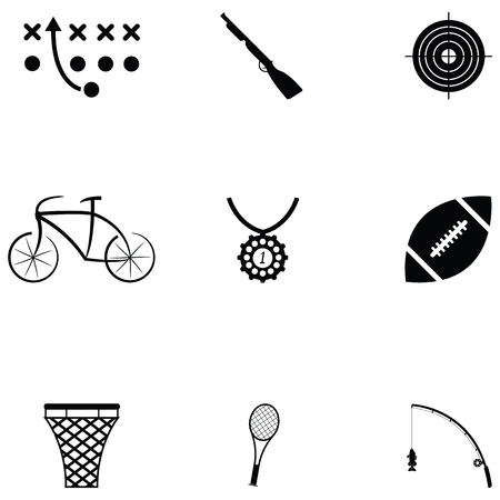 Sport icon set on white background vector illustration.
