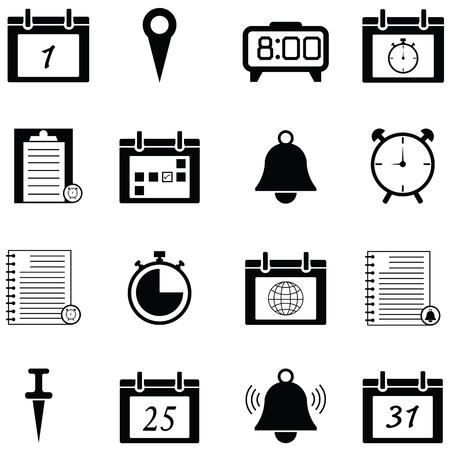 Reminders icon set on white background vector illustration.