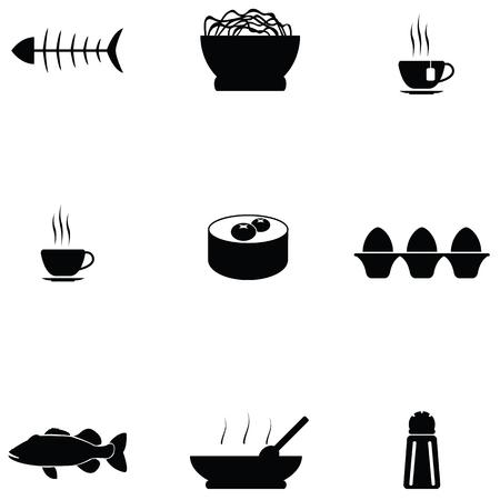 Chinese food icon set Illustration
