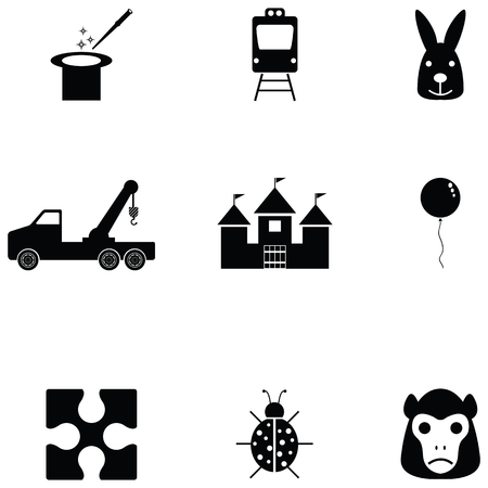 toy icon set Vector illustration.