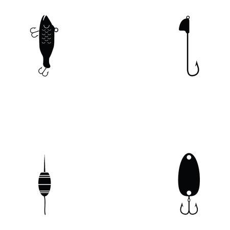 fishing baits icon set Vector illustration. 일러스트