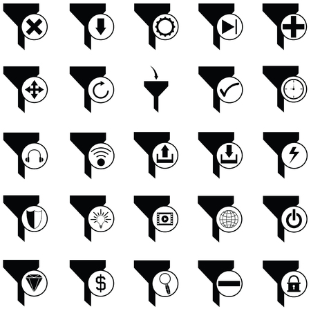 filter icon set Vector illustration. Illustration