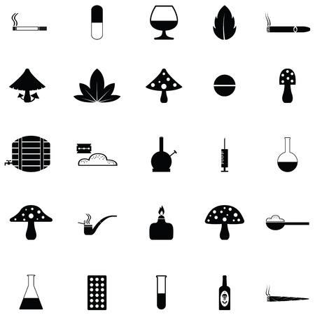 Drug icon set