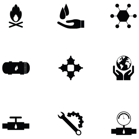 Oil icon set