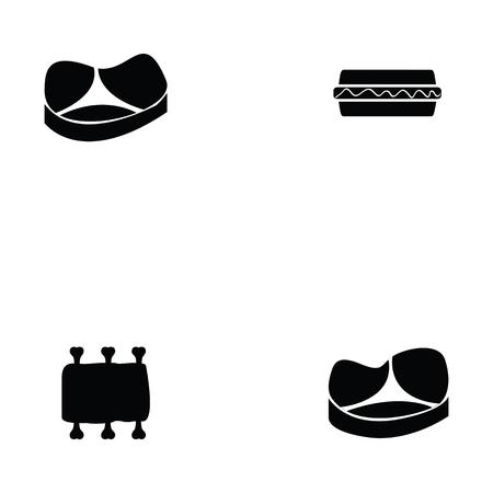 Varkensvlees pictogrammenset
