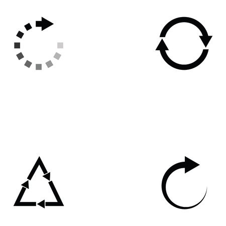 refresh icon set Illustration