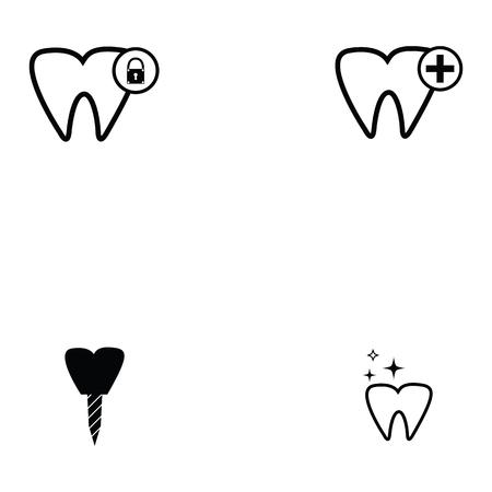 Dentist icon set illustration.